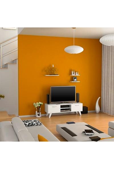 Hepsi Home Carmen Tv ünitesi 3 raflı - Beyaz