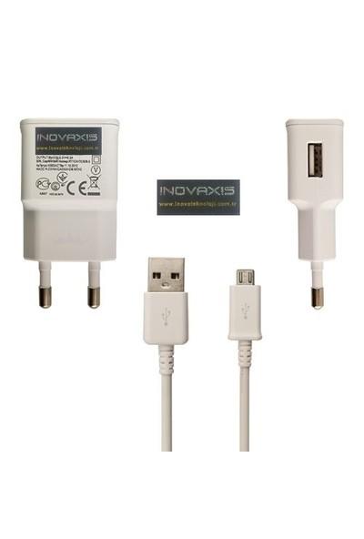 Inovaxıs Samsung S4 Güçlü Şarj Aleti + 1 M Mıcro Usb Data Kablosu (2A Gücünde)