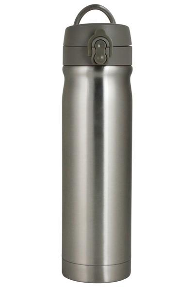 Çelik İçli Matara 500ml Metalik Gri