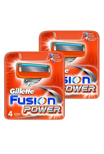 Gillette Fusion Power Yedek Tıraş Bıçağı (4 lü Paket)X 2 Adet