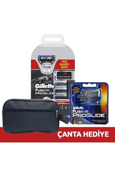 Gillette Proglide Mclaren Tıraş Makinesi + 8 Yedek (Çanta Hediye)