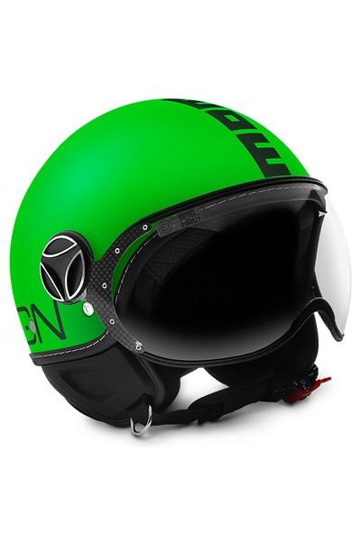 Momo Design Fgtr Fluo Mat Yeşil, Siyah Logo, Large Kask
