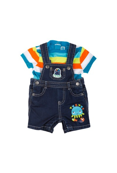 Tuc Tuc Denim Tulum + T-Shirt Takım Jellyfish