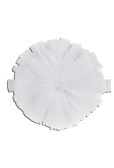 Karamela Ponpon Saç Bandı Beyaz