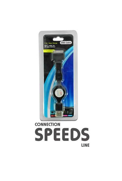 C.Speeds Lıne Ag-Ip401 İphone 4 Makaralı Usb Kablo