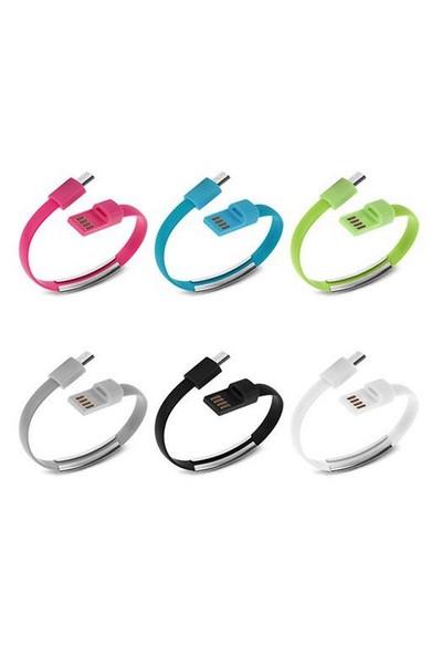 C.Speeds Lıne Ag-Blk07 Mıcro Usb Renkli Bileklik Usb Data Kablo