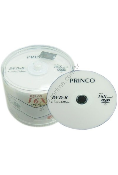 Princo Dvd-R 4.7 Gb Cace Box (1 Paket)