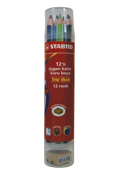 Stabilo Trio Thick 12'li Plastik Tüp