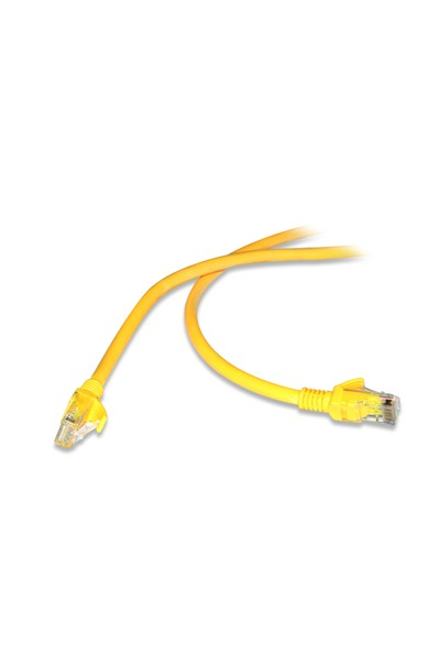 Flaxes FNK-6003S 30 Cm CAT6 (Patch) Network Kablosu Sarı