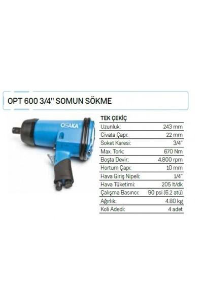 """Osaka Opt 600 3/4"""" Somun Sökme"""
