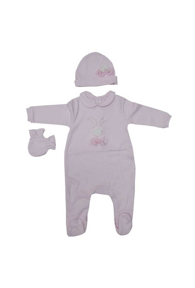 İdil Baby 7061 3'Lü Tulum Takım Pembe