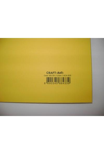 Umix Craft & Arts Fon Kartonu 160Gr 50*70Cm Güneş Sarı
