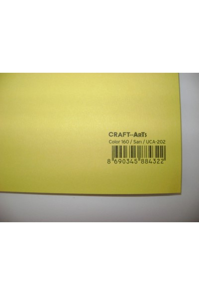 Umix Craft & Arts Fon Kartonu 160Gr 50*70Cm Sarı