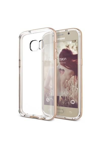 Verus Samsung Galaxy S7 Crystal Bumper Kılıf Shine Gold