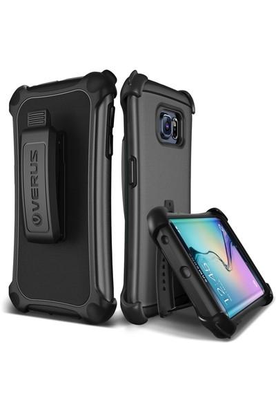 Verus Galaxy S6 Edge Hard Drop Active Kılıf Steel Silver