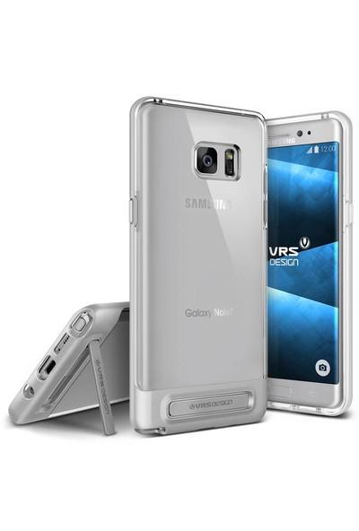 Verus Samsung Galaxy Note FE Fan Edition Crystal Bumper Kılıf Light Silver