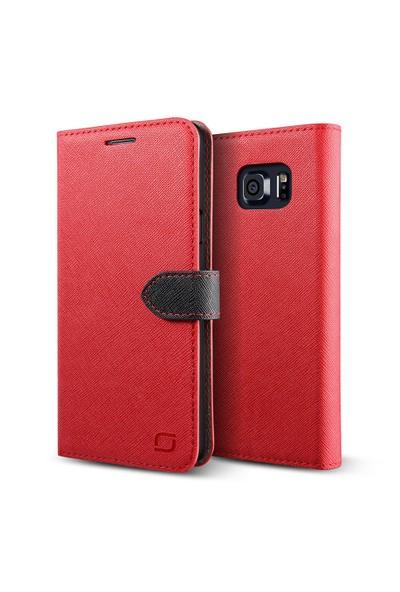 LIFIC Samsung Galaxy Note 5 Saffiano Diary Kılıf Red