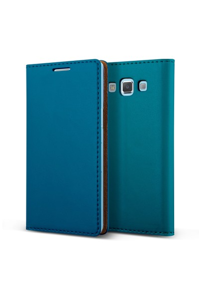 Verus Galaxy A5 Wallet Crayon Slim Diary Kılıf Blue