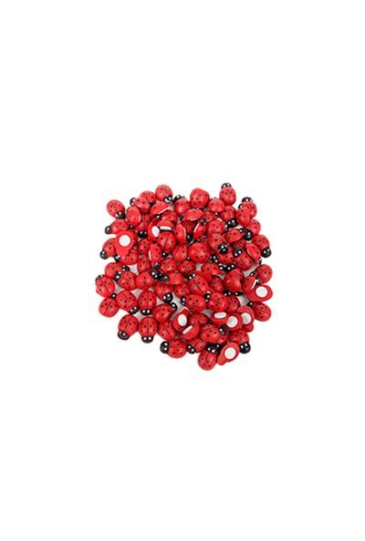KullanAtMarket Uğur Böceği Kırmızı Sticker Küçük 100 Adet