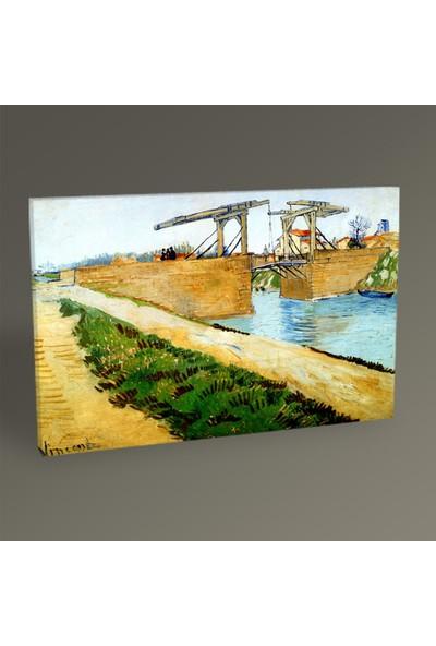 Tablo360 Vincent Van Gogh Arles'de Langlois Köprüsü 45 x 30