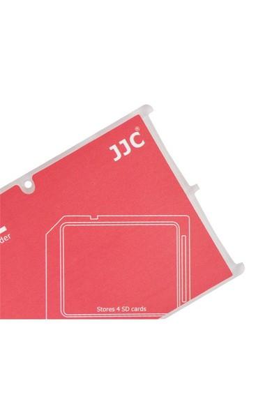 JJC Memory Card Case Hafıza Kartı Tutucu (4 SD Kart - Kırmızı)