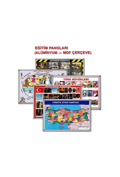 Türkiye Siyasi Harita Mdf Çerçeve 70X100 Cm