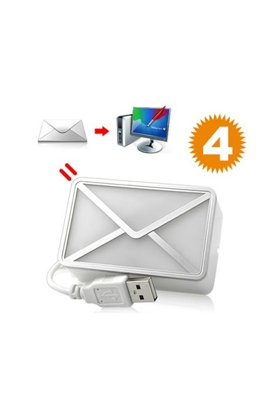 Toptancı Kapında Usb Girişli E-Mail Habercisi Masa Lambası