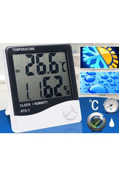 Yopigo Masaüstü ve Duvar Tipi Dijital Sıcaklık Nem Ölçer Termometre ve Saat