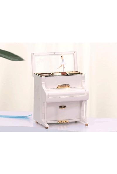 Toptancı Kapında Balerinli Klasik Piyano Müzik Kutusu Büyük Boy