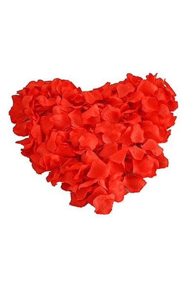 Kırmızı 500 Gül Yaprağı 4 Adet Mum Sevgililer Gününe Özel