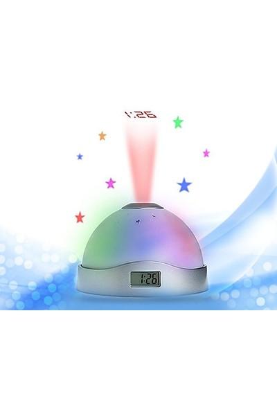 Toptancı Kapında Renk Değiştiren Projeksiyon Alarmlı Saat