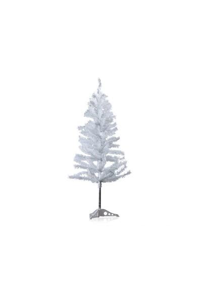 Toptancı Kapında Yılbaşı Beyaz Çam Ağacı 150 Cm