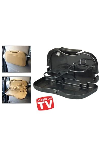 Toptancı Kapında Araba Koltuğu Arkası Katlanabilir Portatif Tepsi