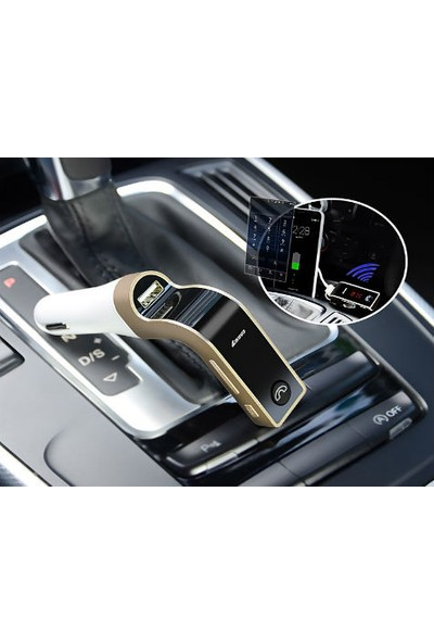 Toptancı Kapında Carg7 Bluetooth Araç Fm Transmitter Usb Girişli