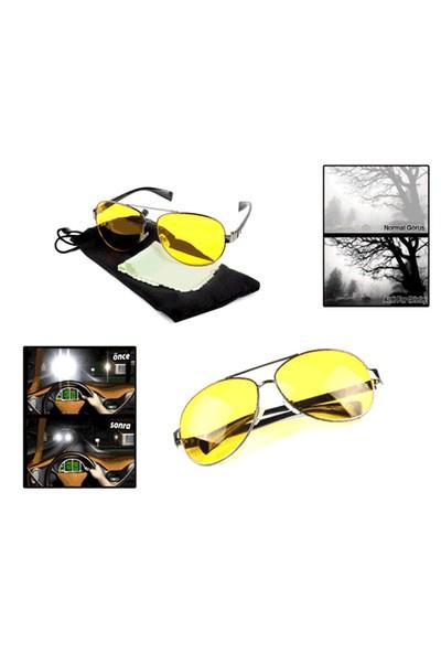 Toptancı Kapında Metal Çerçeveli Anti Far Gece Görüş Gözlüğü (Damla Modeli)