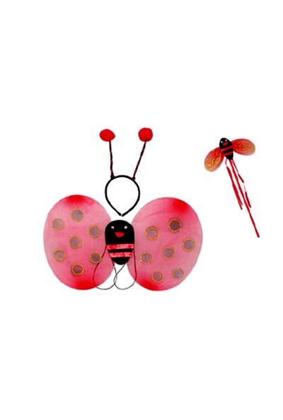 Toptancı Kapında Uğur Böceği Kanat Seti 3 Parça