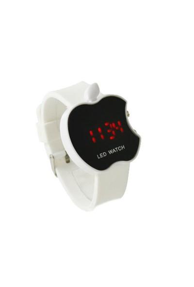 Toptancı Kapında Apple Dijital Led Bileklik Kol Saati - Beyaz