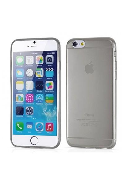 Toptancı Kapında Apple İphone 6/6S Füme Şeffaf İnce Silikon Kılıf