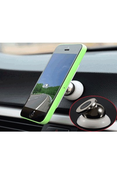 Toptancı Kapında Araç İçi 360° Dönebilen Mıknatıslı Yapışkanlı Telefon Tutucu