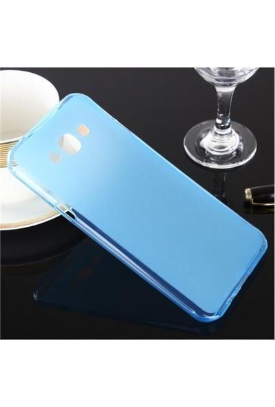 Toptancı Kapında Samsung Galaxy S3 Mini Mavi Şeffaf İnce Silikon Kılıf