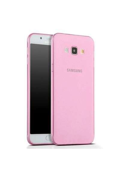 Toptancı Kapında Samsung Galaxy S5 Mini Pembe Şeffaf İnce Silikon Kılıf