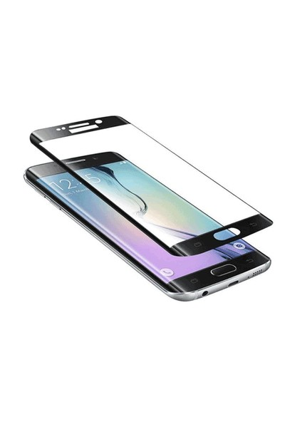 Toptancı Kapında Samsung Galaxy S7 Edge Siyah 3D Kavisli Kavisli Cam