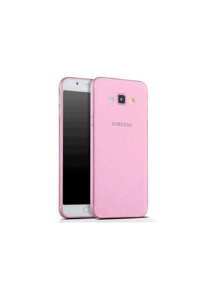Toptancı Kapında Samsung S7 Pembe Şeffaf İnce Silikon Kılıf