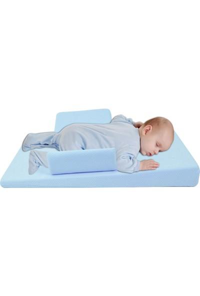 Sevi Bebe Bebek Reflü Yatağı Mavi