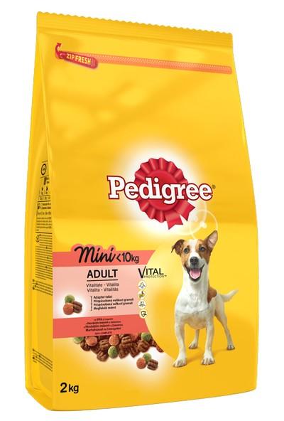Pedigree Küçük Cins Köpekler İçin Sığır Etli ve Sebzeli Kuru mama 2 kg