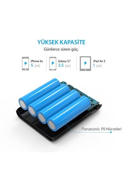 Anker PowerCore 10000 mAh 2 Portlu Taşınabilir Şarj Cihazı PowerBank - Siyah