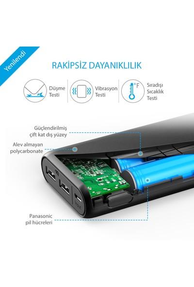 Anker PowerCore 20000 Taşınabilir Şarj Cihazı PowerBank 20000 mAh - Anker Micro Usb Kablosu ve Taşıma Çantalı