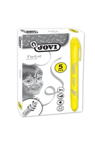 Jovi Twist Stick 5'li SARI Yüz Boyama Kalemi