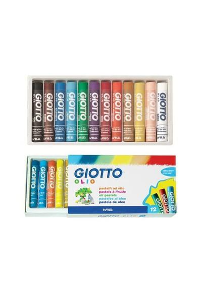 Giotto 12'Li Olio Yağlı Pastel Silindir