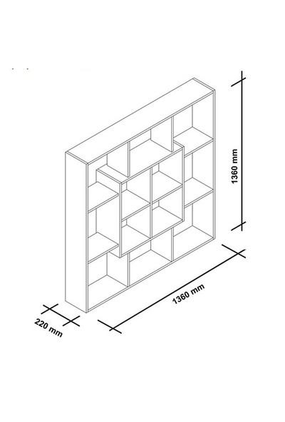 Minar Leef Kitaplık Lfk.Pbi.18.01 Beyazistanbul